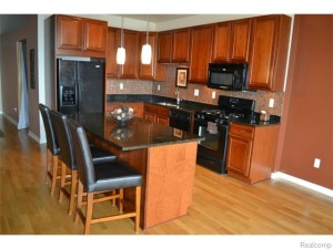 Kitchen - Cherry Cabinets -Granite- Wood floors